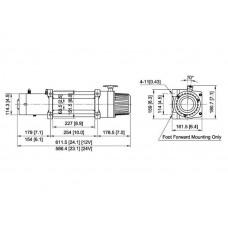 Лебедка COMEUP DV-12s 5443 кг 12 В 850125 облегченная
