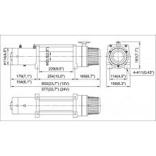 Лебедка COMEUP DV-9 12V 4082 кг 856329