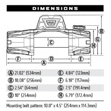 Лебедка WARN VR EVO 12-s 12V 5443 кг 103255