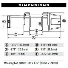 Лебедка WARN ATV VRX 35- 12V 101035