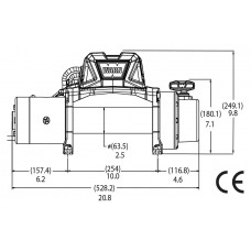 Автомобильная лебедка WARN TABOR 10k 4536 кг 12V 97005