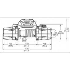 Автомобильная лебедка WARN ZEON 10-S 4536 кг 12 V 89680