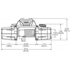 Автомобильная лебедка WARN ZEON 10 4536 кг 12 V 89650