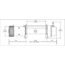Автомобильная лебедка WARN 9.5XP-S 12V 4310 кг 88850