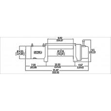 Автомобильная лебедка WARN XD9000 4080 кг 12V 28500